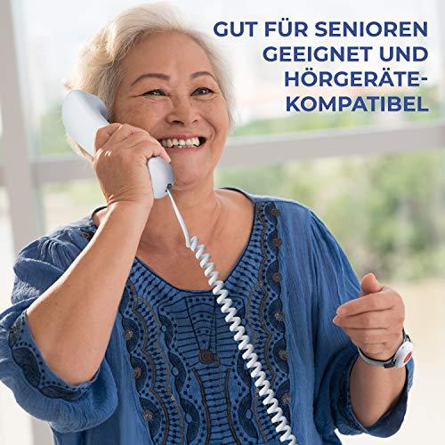Pflegerufset Senioren-Notruf-Telefon mit Armbandsender-Sender und Adapterstecker - 4