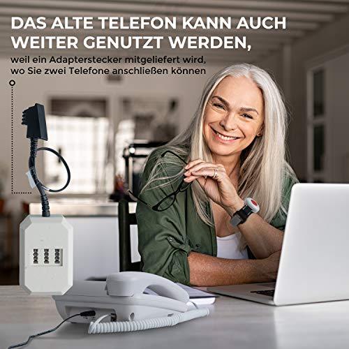Pflegerufset Senioren-Notruf-Telefon mit Armbandsender-Sender und Adapterstecker - 3