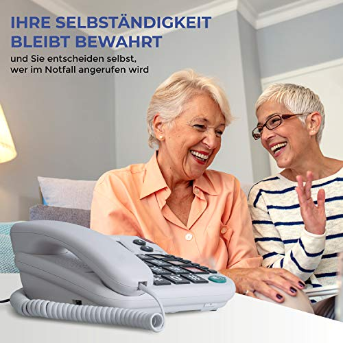 Pflegerufset Senioren-Notruf-Telefon mit Armbandsender-Sender und Adapterstecker - 2
