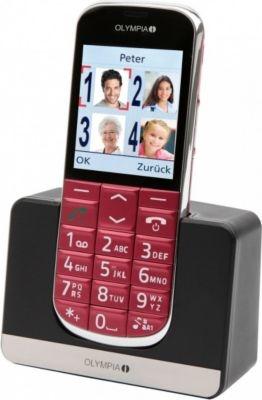 OLYMPIA Joy Senioren-Mobiltelefon in rot