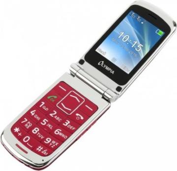 OLYMPIA Style Plus Senioren Komfort Mobiltelefon mit Großtasten, Rot