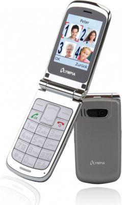 OLYMPIA Style Plus Senioren Komfort Mobiltelefon mit Großtasten, Silber