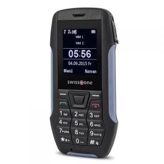Robustes und spritzwassergeschütztes Outdoor-Handy für Senioren Swisstone SX 567 Grau