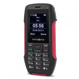 Robustes und spritzwassergeschütztes Outdoor-Handy für Senioren Swisstone SX 567 Rot